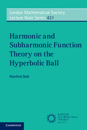 Harmonic and Subharmonic Function Theory on the Hyperbolic Ball