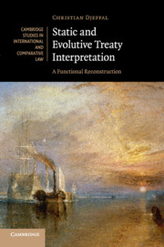 Static and Evolutive Treaty Interpretation