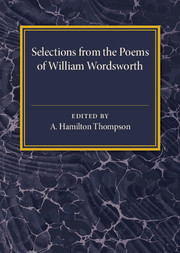 Selections from the Poems of William Wordsworth