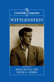 The Cambridge Companion To Wittgenstein Edited By Hans Sluga
