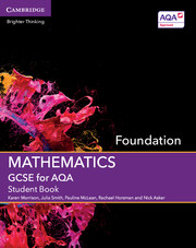 GCSE Mathematics for AQA Foundation Student Book with Online Subscription (3 Years)