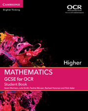 GCSE Mathematics for OCR Higher Student Book with Online Subscription (3 Years)