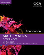 GCSE Mathematics for OCR Foundation Student Book with Online Subscription (3 Years)