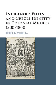 Indigenous Elites and Creole Identity in Colonial Mexico, 1500–1800