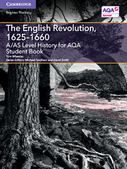 for AQA The English Revolution,  1625-1660 Student Book