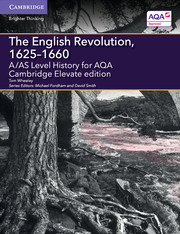 for AQA The English Revolution, 1625-1660 Cambridge Elevate edition (2 Years)