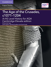 for AQA The Age of the Crusades, c1071-1204 Cambridge Elevate edition (2 Years)