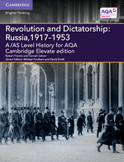 A/AS Level History for AQA Revolution and Dictatorship: Russia, 1917–1953 Cambridge Elevate Edition (2 Years)