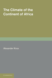 The Climate of the Continent of Africa