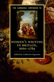 The Cambridge Companion to Women's Writing in Britain, 1660–1789
