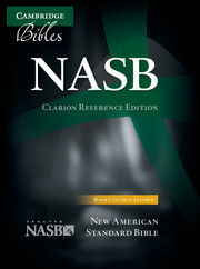 NASB Clarion Reference Bible, Black Calf Split Leather, NS484:X