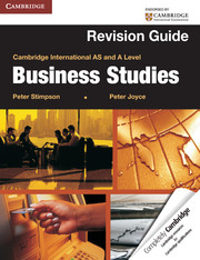 Cambridge International AS and A Level Business Studies