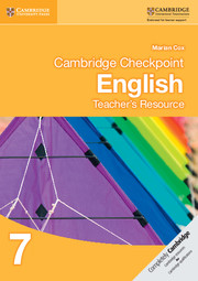 Cambridge Checkpoint English Teacher's Resource 7