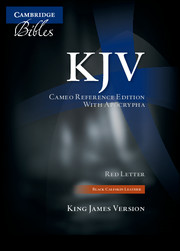 KJV Cameo Reference Bible with Apocrypha, Black Calfskin Leather, Red-letter Text, KJ455:XRA