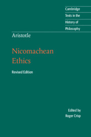 Aristotle: <I>Nicomachean Ethics</I>