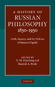 A History of Russian Philosophy 1830–1930