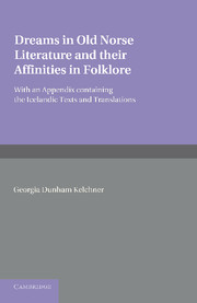 Dreams in Old Norse Literature and their Affinities in Folklore