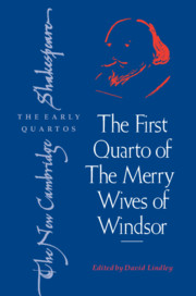 The First Quarto of 'The Merry Wives of Windsor'