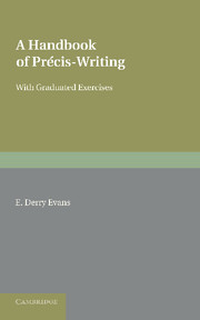 A Handbook of Précis-Writing