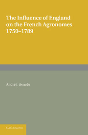 The Influence of England on the French Agronomes, 1750–1789