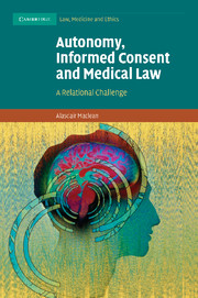 Autonomy, Informed Consent and Medical Law