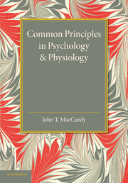 Common Principles in Psychology and Physiology