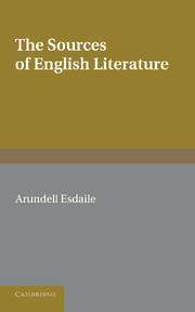 The Sources of English Literature