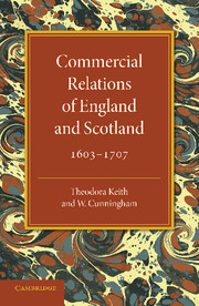 Commercial Relations of England and Scotland 1603–1707