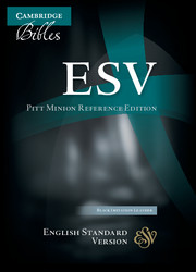 ESV Pitt Minion Reference Bible, Black Imitation Leather, ES442:X