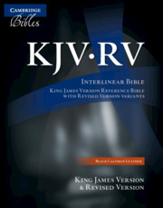 The KJV/RV Interlinear Bible, Black Calfskin Leather, RV655:X