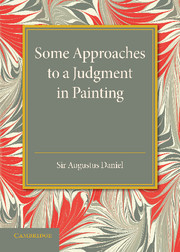 Some Approaches to a Judgment in Painting