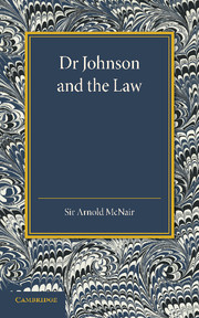 Dr Johnson and the Law