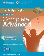 Complete Advanced Workbook without Answers with Audio CD