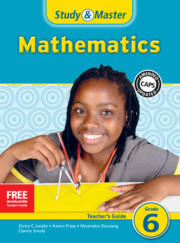 Study & Master Mathematics Teacher's Guide Grade 6