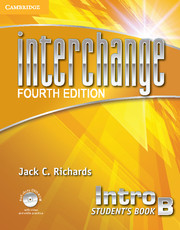 Interchange Intro Student's Book B with Self-study DVD-ROM and Online Workbook B Pack