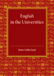 English in the Universities