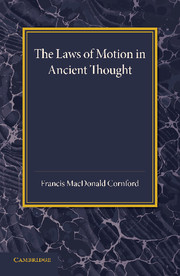 The Laws of Motion in Ancient Thought