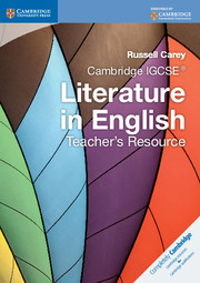 Cambridge IGCSE Literature in English Teacher's Resource