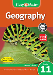 Study & Master Geography Learner's Book Grade 11 (1 Year) Elevate Edition