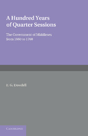 A Hundred Years of Quarter Sessions