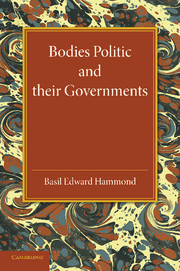 Bodies Politic and their Governments