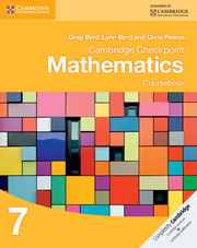 Cambridge Checkpoint Mathematics Coursebook 7