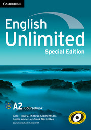 English Unlimited Elementary Coursebook with e-Portfolio Special Edition
