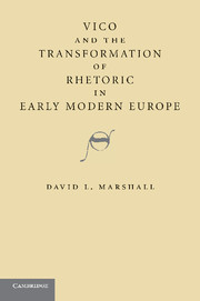 Vico and the Transformation of Rhetoric in Early Modern Europe