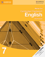 Cambridge Checkpoint English: Workbook 7