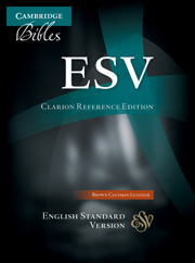 ESV Clarion Reference Bible, Brown Calfskin Leather, ES485:X