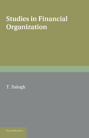 Studies in Financial Organization
