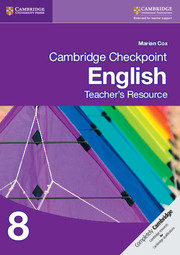 Cambridge Checkpoint English Teacher's Resource 8
