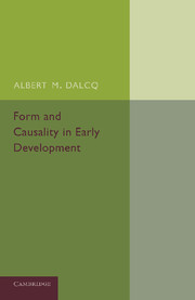 Form and Causality in Early Development
