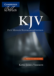 KJV Pitt Minion Reference Bible, Brown Goatskin Leather, KJ446:X